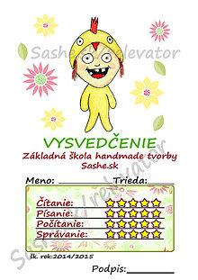 Papiernictvo - Roztomilé vysvedčenie - Kurča - 5387847_