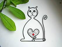 Dekorácie - mačička - 5392537_
