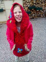 Dětský dlouhý svetřík s kapucou