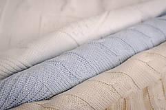 Textil - Jarná/LetnáPletená Deka OEKO-TEX® do Kočíka a Postieľky vzor Vrkoč - Béžová - 5393953_