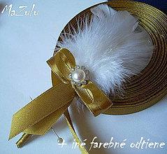 Pierka - svadobné pierka v zlatom - 5392090_