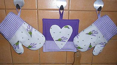 Úžitkový textil - fialové chňapky - 5393210_