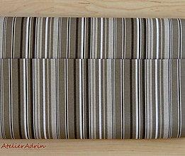 Textil - metráž režná-pásik - 5392780_