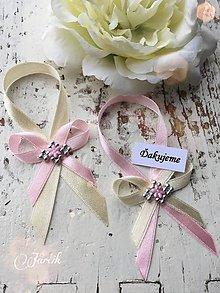 Darčeky pre svadobčanov - Stuhy na fľaše - 5393026_