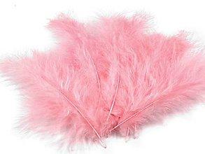 Suroviny - Pštrosie perie 20 ks (svetlo ružové) - 5392359_