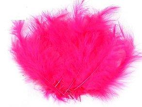 Suroviny - Pštrosie perie 20 ks (ružové sýte) - 5392362_