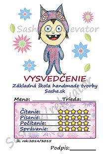 Papiernictvo - Roztomilé vysvedčenie - Sovička - 5391940_