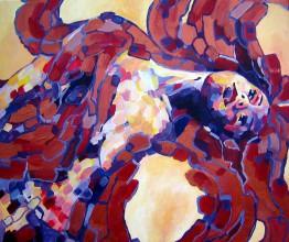 Obrazy - Obraz na stenu, maľba, originál (Vášeň príde v utorok) - 5395442_