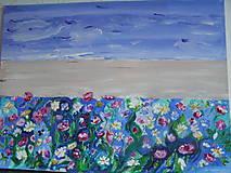 Kvety a more -abstrakcia