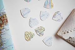Papiernictvo - Vintage svadobné konfety - 100ks (výzdoba) - 5396254_