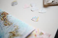 Papiernictvo - Vintage svadobné konfety - 100ks (výzdoba) - 5396255_