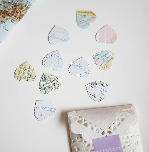 Vintage svadobné konfety - 100ks (výzdoba)