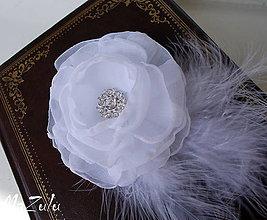 Ozdoby do vlasov - svadobná spona so štrasom - 5396570_