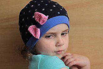 Detské čiapky - Čiapočka s mašličkou - 5396590_