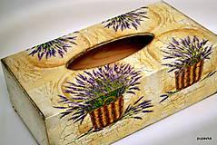 Krabičky - Levanduľa v košíčku - 5396350_