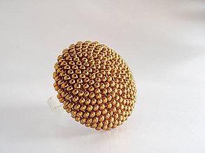 Prstene - BUTTON Bronze - 5395434_