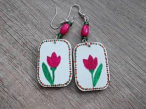 Náušnice - Maľované náušnice tulipány - 5394095_