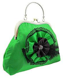 Kabelky - Spoločenská kabelka zelená 1110 - 5400730_
