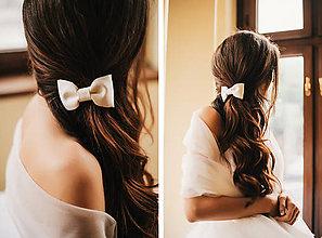 Ozdoby do vlasov - Svadobná mašlička do vlasov - 5399167_