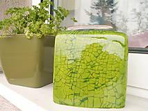 Dekorácie - Váza zelená jarná II - 5398274_