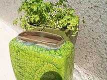 Dekorácie - Váza zelená jarná II - 5398275_