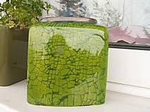 Dekorácie - Váza zelená jarná II - 5398276_