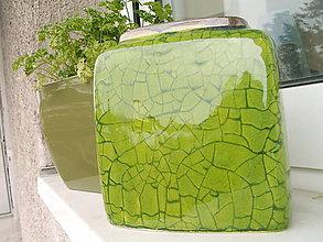 Dekorácie - Váza zelená jarná II - 5398273_