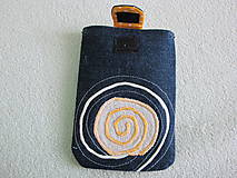Úžitkový textil - Obal na mobil- denim - 5399491_