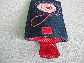 Úžitkový textil - Obal na mobil z rifľoviny - 5400138_