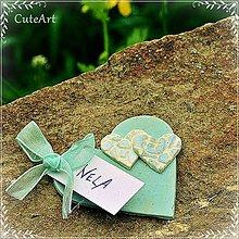 Darčeky pre svadobčanov - Darčeky pre svadobných hostí - menovky - 5398554_
