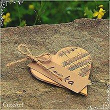 Darčeky pre svadobčanov - Darčeky pre svadobných hostí - menovky - 5398591_