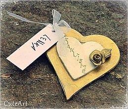 Darčeky pre svadobčanov - Darčeky pre svadobných hostí - menovky - 5398598_