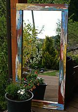 Zrkadlá - Zrkadlo farebná patina - 5400538_