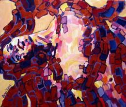 Obrazy - Dvojička utorkovej vášne - obraz na stenu, maľba, originál - 5403748_
