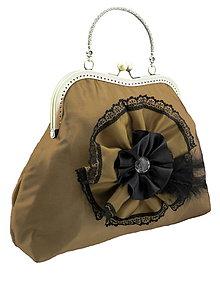 Kabelky - Spoločenská kabelka khaki 1110 - 5400761_