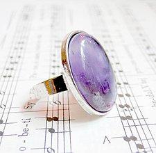 Prstene - Amethyst in Silver - 5401422_