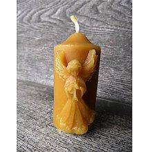 Svietidlá a sviečky - Sviečka s anjelom - 5401092_