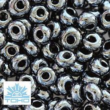 Korálky - TOHO rokajl (Magatama 3mm) Metallic hematite - 5401168_