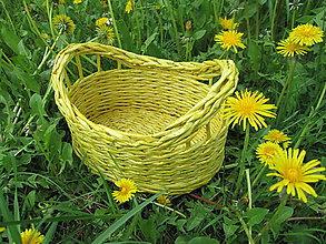 Košíky - Žltý košíček - 5401847_