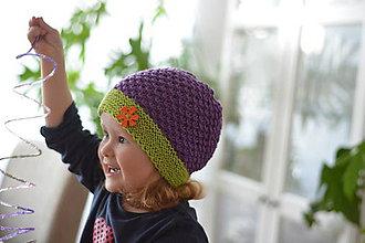Detské čiapky - Fialová - 5403567_
