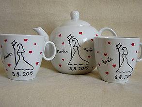 Nádoby - Svadobná sada na čaj alebo kávu - 5401590_