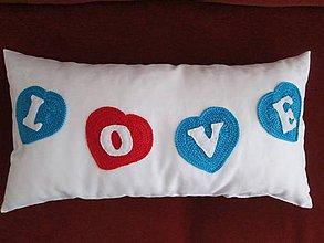 Úžitkový textil - srdce vo farbe - 5402756_