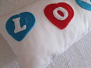 Úžitkový textil - srdce vo farbe - 5402758_