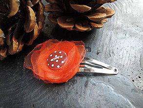 Ozdoby do vlasov - Oranžáda bodkovaná - 5406305_