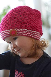 Detské čiapky - ODSTÍNY RŮŽOVÉ - 5404025_