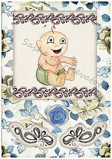 Papiernictvo - Kvetinové blahoželanie k narodeniu dieťatka 3 - 5405166_