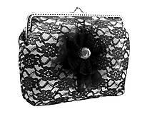 Kabelky - Saténová  dámská kabelka s čipkou  04561A - 5408539_