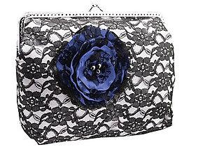 Kabelky - Saténová  dámská kabelka s čipkou  04562A - 5408568_