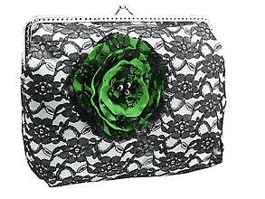 Kabelky - Saténová  dámská kabelka s čipkou  04563A - 5408578_