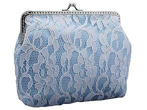 Kabelky - Svadobná čipková kabelka modrá , kabelka pre nevestu  04151A - 5408619_
